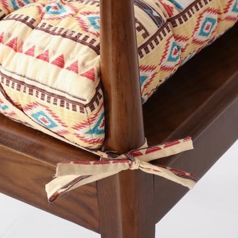 Greenland Home Fashions Southwest Triple Layered Chair Pad - 18 inches x 18 inches
