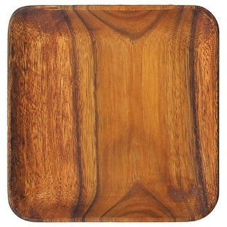 Pacific Merchants Acaciaware K0061 Acacia Wood Square Serving Plate, 12""