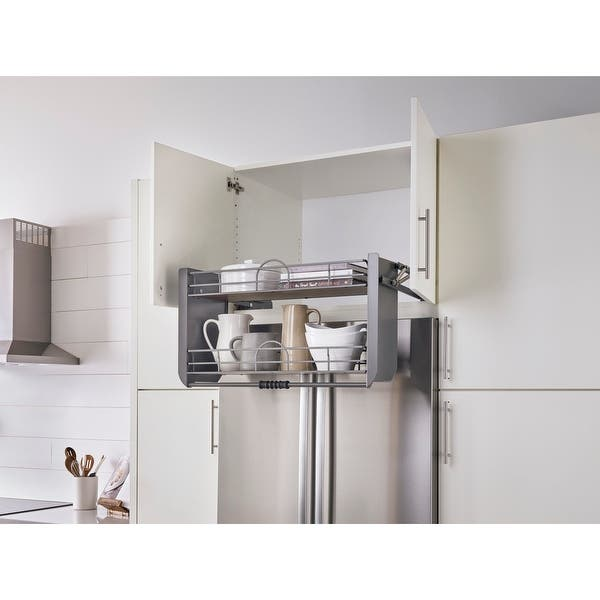 36 In Orion Gray Pull Down Shelf 32 02 W X 10 11 D X 18 22 H Overstock 31730249