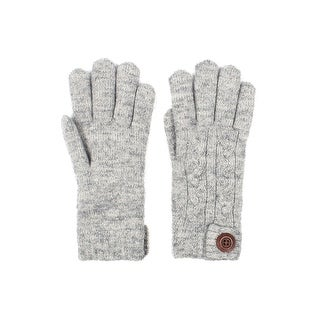 Mens Cable Knit Winter Gloves Wooden Button Lined (4 options available)