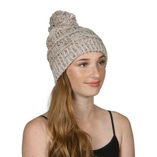Gravity Threads CC Warm Cable Knit Thick Soft Beanie w/ Pom