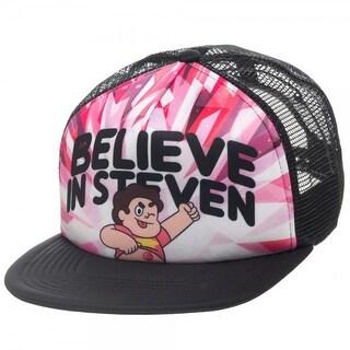 """Steven Universe """"Believe in Steven"""" Trucker Hat - Black"""