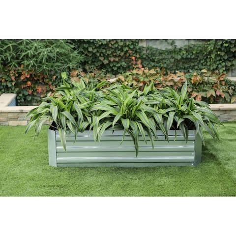 48in Galvanized Rectangular Raised Garden Bed