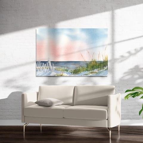 BEACH AT DAWN Art on Acrylic By Kavka Designs