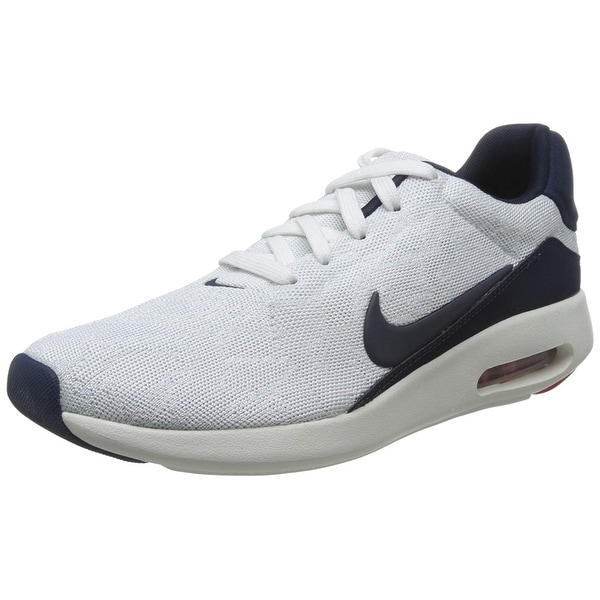 Shop Nike Air Max Direct White Fabric Running Shoes Free