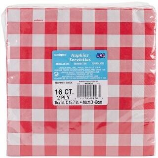 """Dinner Napkins 8""""X8"""" 16/Pkg-Red & White Check - red & white check"""