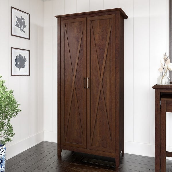 Key West Tall Storage Cabinet with Doors by Bush Furniture. Opens flyout.
