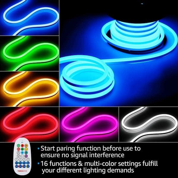 50ft rgb led neon rope light strip for