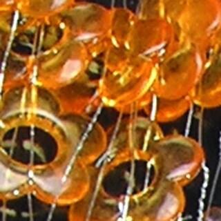 Decorative Strand of Clear Orange Acrylic Flowers on Wire 11 Yards