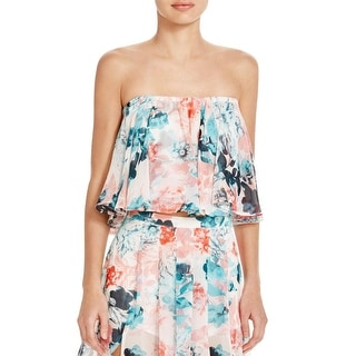 Lovers + Friends Womens Crop Top Chiffon Floral - S