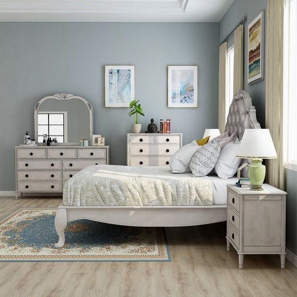 Furniture of America Boll Traditional White 6-piece Bedroom Set. Opens flyout.