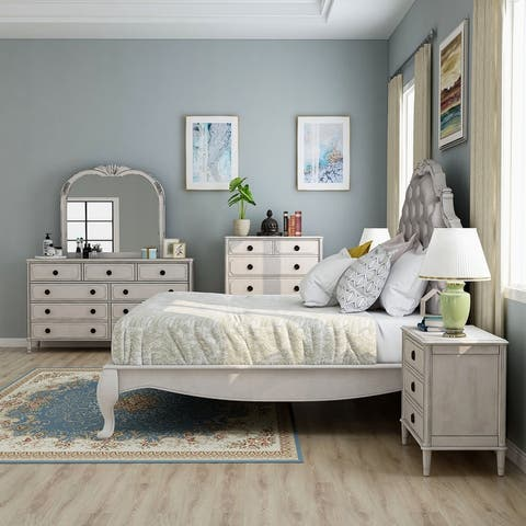 Furniture of America Boll Traditional White 6-piece Bedroom Set