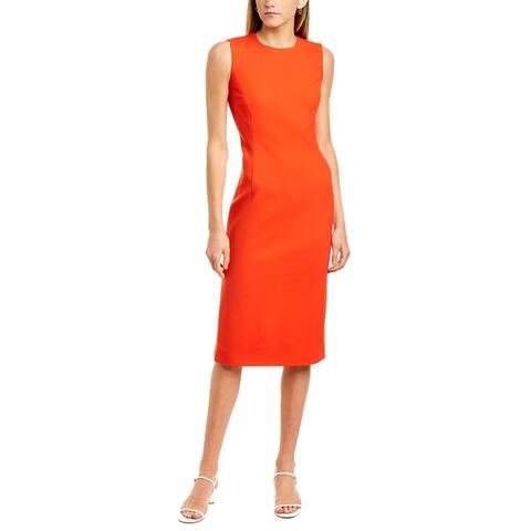 Oscar De La Renta Princess Seamed Wool-Blend Sheath Dress