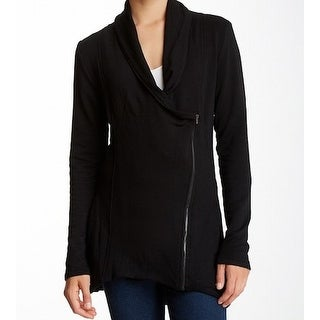 H By Bordeaux NEW Black Womens Size Small S Asymmetrical Zip Jacket