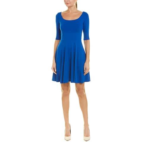 Susana Monaco Elbow-Sleeve A-Line Dress