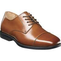 Florsheim Boys' Reveal Cap Toe Oxford, Jr. Cognac Leather