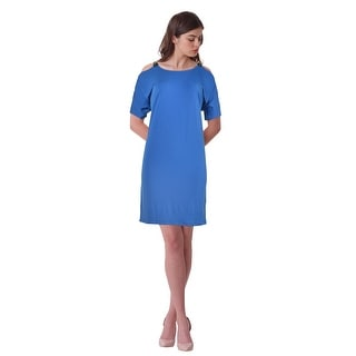 Michael by Michael Kors Matte Jersey Cold Shoulder Cocktail Day Dress