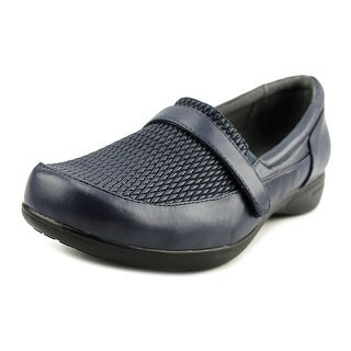 FootSmart April Women WW Round Toe Leather Blue Loafer