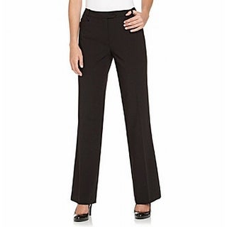 Calvin Klein NEW Solid Black Straight-Leg Women's Size 4 Dress Pants