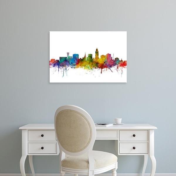 Easy Art Prints Michael Tompsett's 'Lincoln Nebraska Skyline' Premium Canvas Art