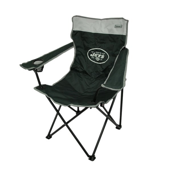 Shop Coleman Nfl New York Jets Folding Tailgate Chair W