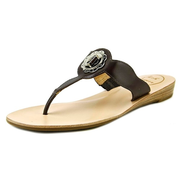 Jack Rogers Larissa Women Open Toe Leather Thong Sandal