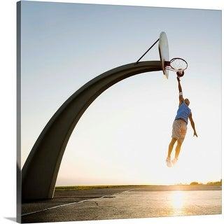 """Basketball player"" Canvas Wall Art"