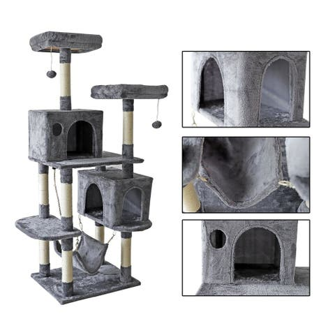 confote 64'' Multi-Level Cat Tree Activity Tower Condo Furniture