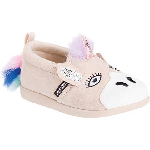MUK LUKS Children's Luna the Unicorn Shoe Natural Polyester
