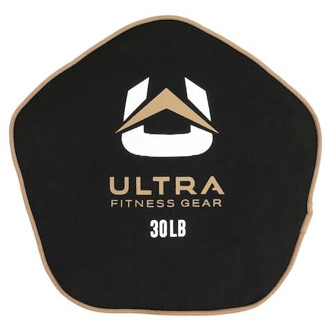 Ultra Fitness Gear Super Tough Fillable Neoprene Pancake Sandbag for Full Body Workouts (Unfilled), 30lbs.