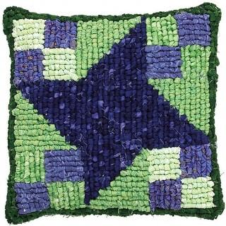 "Quilt Mates Locker Hook Pillow Kit 12.5""X14""-Milky Way"