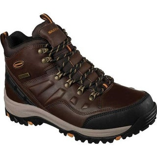 Skechers Men's Relaxed Fit Relment Traven Hiking Boot Dark Brown