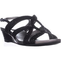 Bandolino Gomeisa Slingback Wedge Sandals, Black