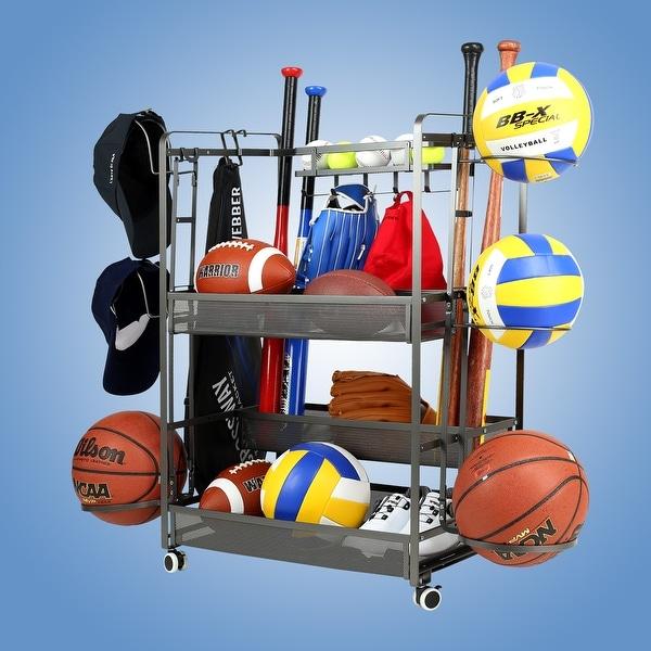JUBAO Sports Equipment Garage Organizer Sport Balls Storage Rack Organizer. Opens flyout.