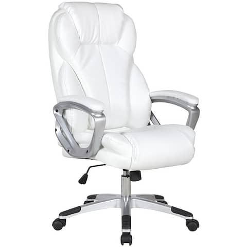 Brown Leather Ergonomic High Back Executive Office Chair Desk Boss Manager Tilt Work Professional