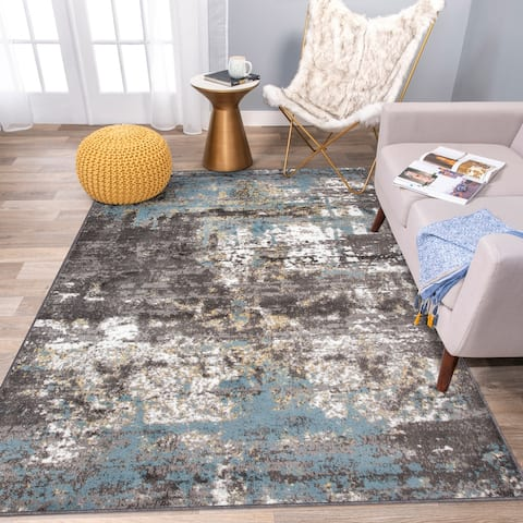 Vintage Distressed Abstract Area Rug