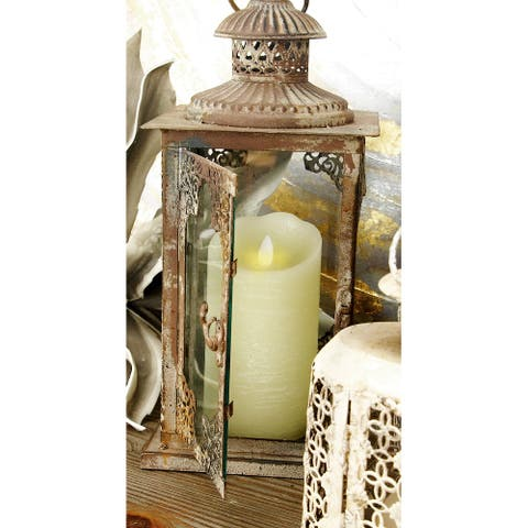 Metal Traditional Flameless Candles (Set of 3)
