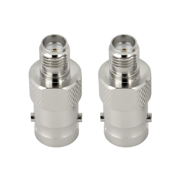 SMA Female to BNC Male RF Connector Adapter, 2 pack
