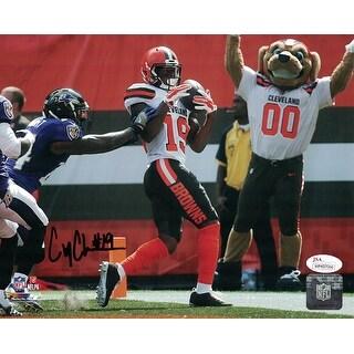 Corey Coleman Autographed Cleveland Browns 8x10 Photo Touchdown JSA