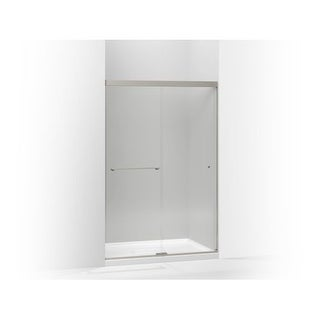 "Kohler K-707101-L Revel Frameless Sliding 70"" x 47-5/8"" Shower Door with Clear Glass, Reversible Opening, and CleanCoat"
