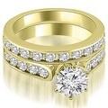 3.19 cttw. 14K Yellow Gold Cathedral Round Cut Diamond Bridal Set - Thumbnail 0