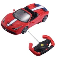 Costway 1:14 Ferrari 458 Speciale A Licensed Radio Remote Control RC Car w/Lights Red