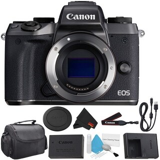 Canon EOS M5 Mirrorless Digital Camera Body- Bundle (Intl Model)