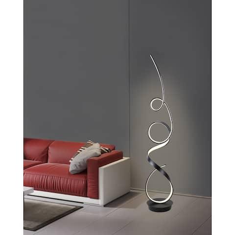 Unique Modern Integrated LED Matte Black Floor Lamp - 63.00
