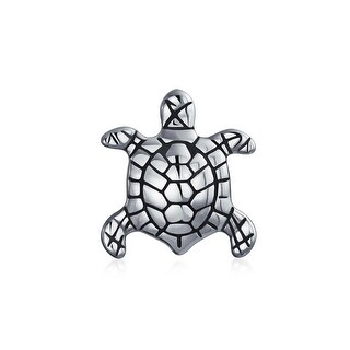 Bling Jewelry Sea Turtle Nautical Animal Bead Charm .925 Sterling Silver