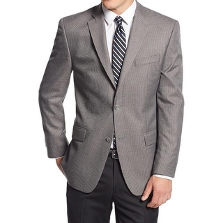 MICHAEL Michael Kors Mens Two-Button Suit Jacket Houndstooth Notch Lapel