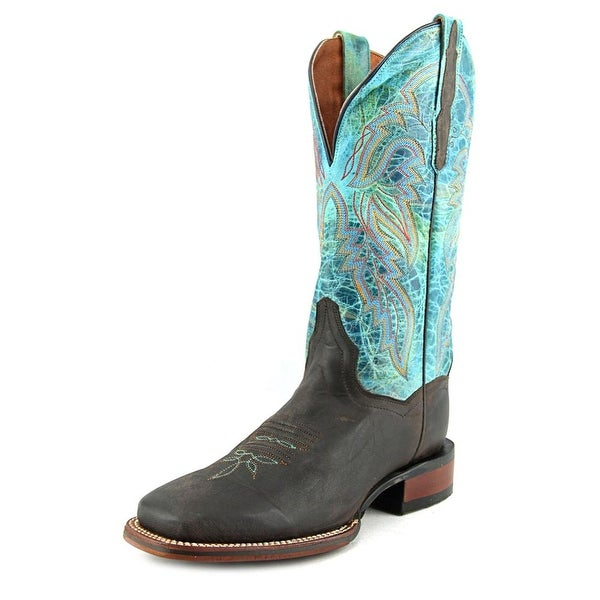Dan Post Lad 11 Women Square Toe Leather Blue Western Boot