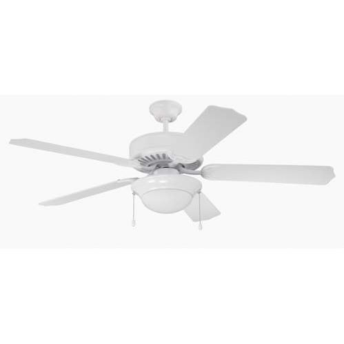 "Craftmade K11130 Pro Builder 209 52"" 5 Blade Indoor Ceiling Fan with Light Kit and Blades Included"