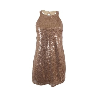 Speechless Juniors' Sequined Sleeveless Dress