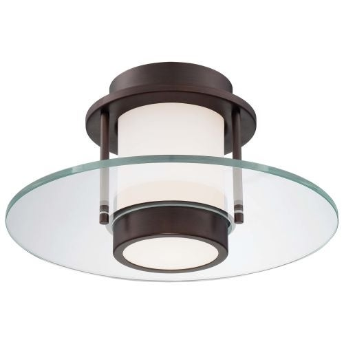 Kovacs P854-647 1 Light Semi-Flush Ceiling Fixture in Copper Bronze Patina